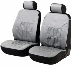 Car Seat Cover Artificial Leather nappa touch gray front seats