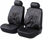 Car Seat Cover Artificial Leather nappa touch black front seats
