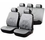 Car Seat Cover Artificial Leather nappa touch gray