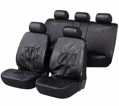 Car Seat Cover Artificial Leather nappa touch black
