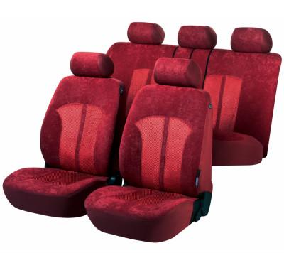 Car Seat Cover Velvet red