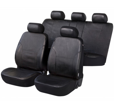 Car Seat Cover Artificial Leather Sussex black