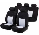 Car Seat Cover Devon black gray