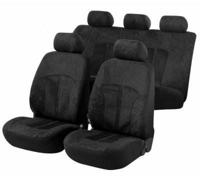 Car Seat Cover Velvet black