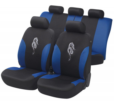 Car Seat Cover Dragon blue