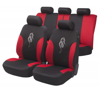 Car Seat Cover Dragon red