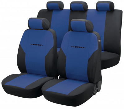 Car Seat Cover Mission blue