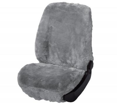 Car Seat Cover Lambskin silver
