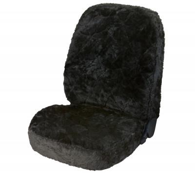 Car Seat Cover Lambskin Patchwork black