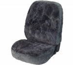 Car Seat Cover Lambskin Patchwork anthracite