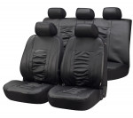 Car Seat Cover Artificial Leather Raphael black